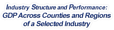 New Hampshire - Gross Domestic Product Across Counties and Regions of a Selected Industry