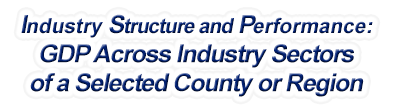 New Hampshire - Gross Domestic Product Across Industry Sectors of a Selected County or Region